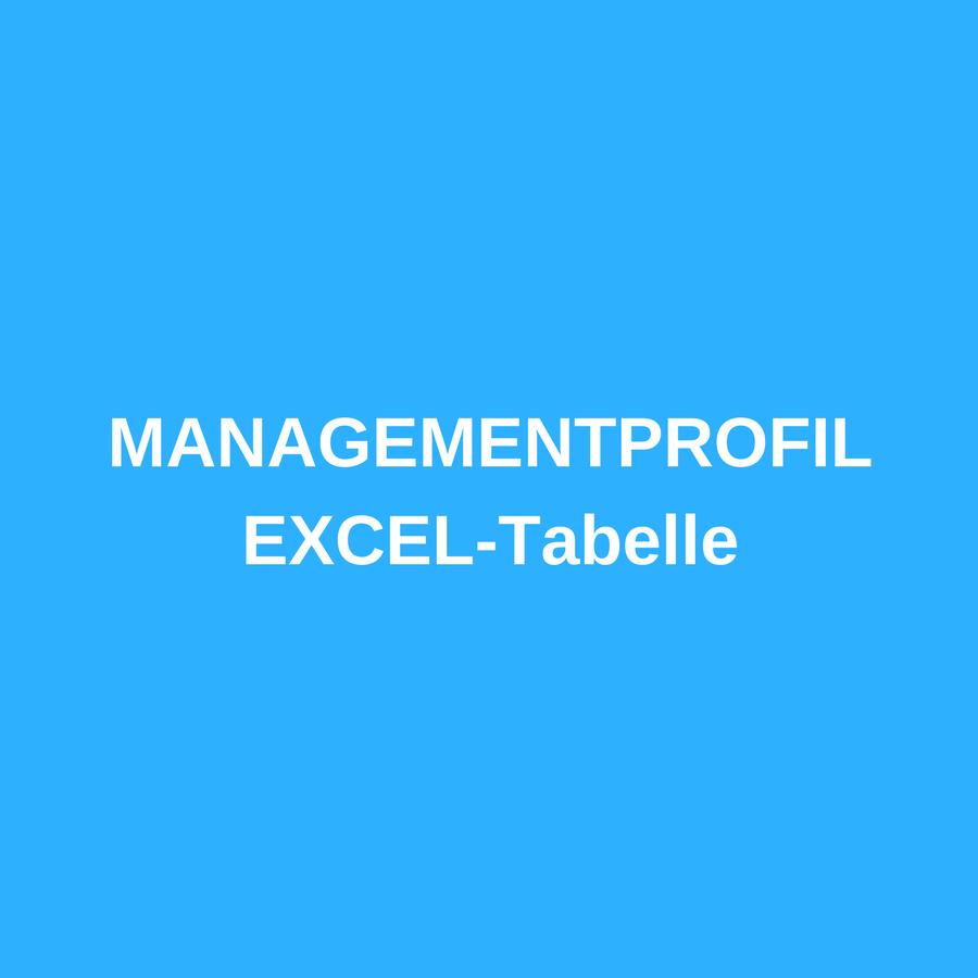 EXCEL Tabelle – Managementprofil